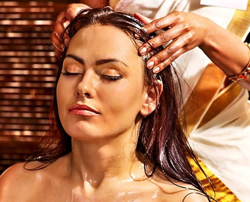 Image result for head oil massage