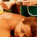 Ayurvedic detoxifying massage using special medicated oils