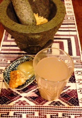 Barley water - serve with molasses or honey