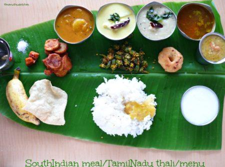 Ayurvedic Tamil Meal